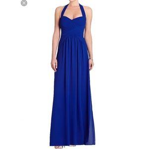 BCBG Selene Halter Blue Dress